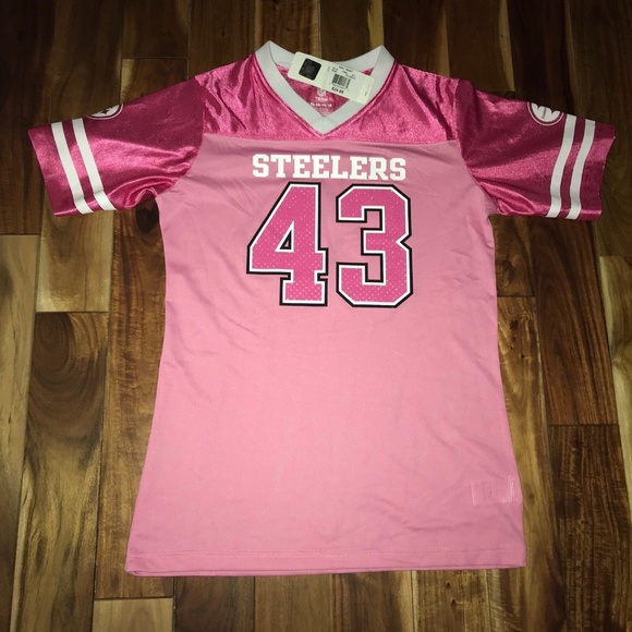 f36c4f636cb Pittsburgh Steelers Pink Troy Polamalu Jersey XL